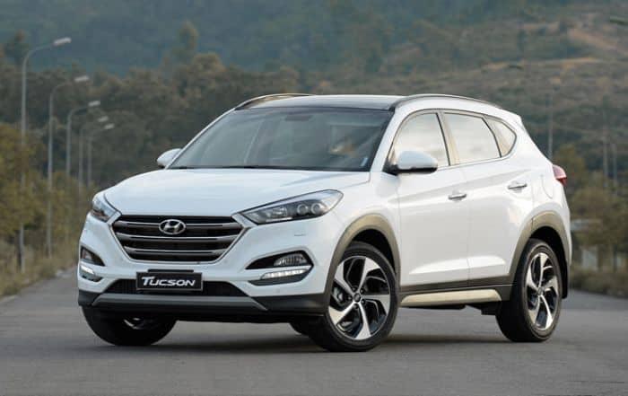 chiếc Hyundai Tucson trông khá khỏe khoắn và mạnh mẽ