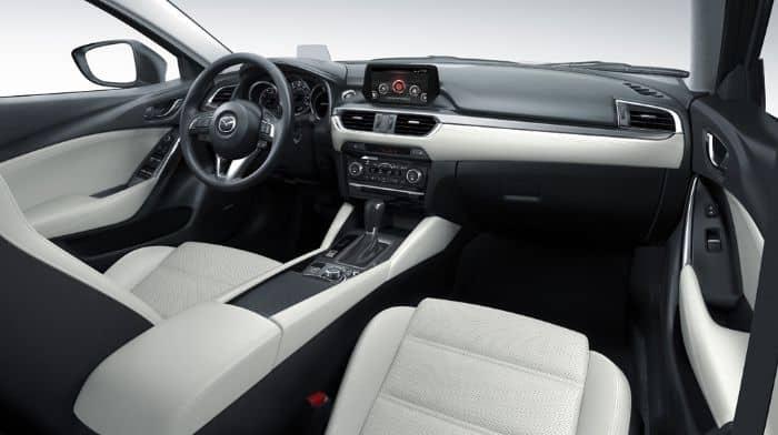 Màu bọc ghế da phổ biến dành cho chiếc Mazda 6