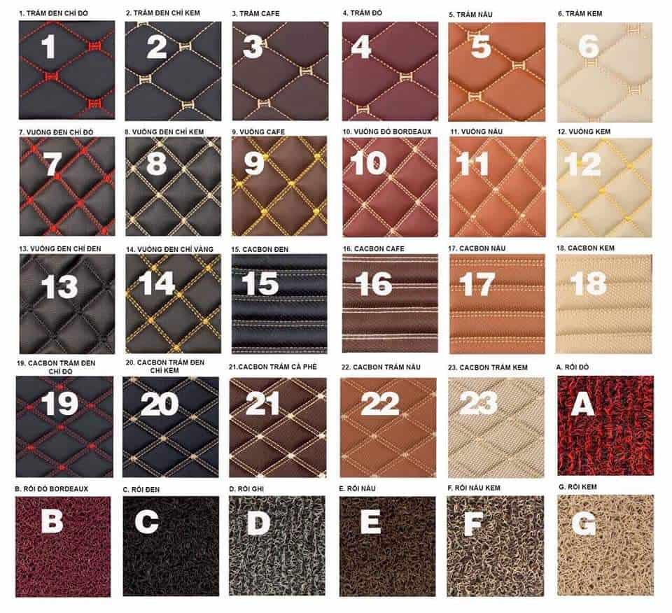 Thảm lót sàn 6D 360 có nhiều màu sắc, họa tiết sang trọng